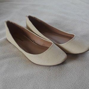 Cream Ballet Flats